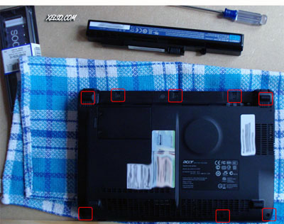Montaje de RAM de un Acer Aspire one por xelso