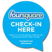 Pegatina de FourSquare check-in Here