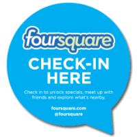 Pegatina de FourSquare check-in Here