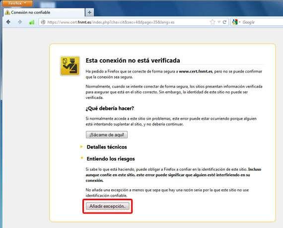 Añadir certificado
