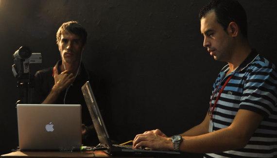 Realizando pruebas de Streaming junto a Domingo Caballero