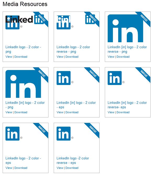Imagenes, logos, recursos, infografias de linkedin