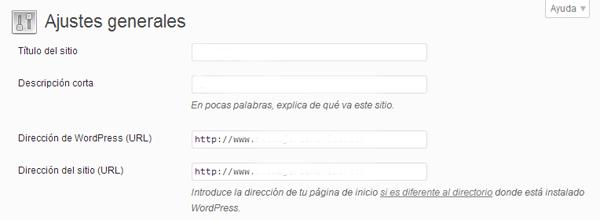 Ajustes Generales Wordpres by Xelso.com