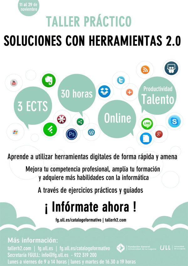 Soluciones con herramientas 2.0: Taller práctico Online | 2º Edición