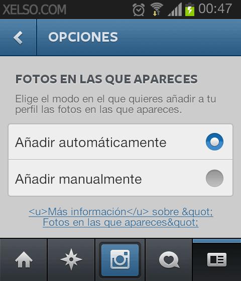Opciones de privacidad en el etiquetado de fotos de Instagram