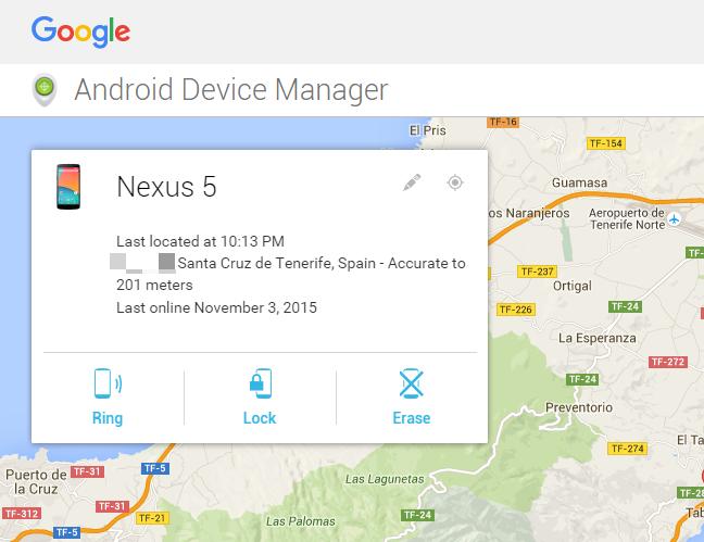 Android Device Manager es una sistema para locarlizar donde se ha perdido tu teléfono Android.