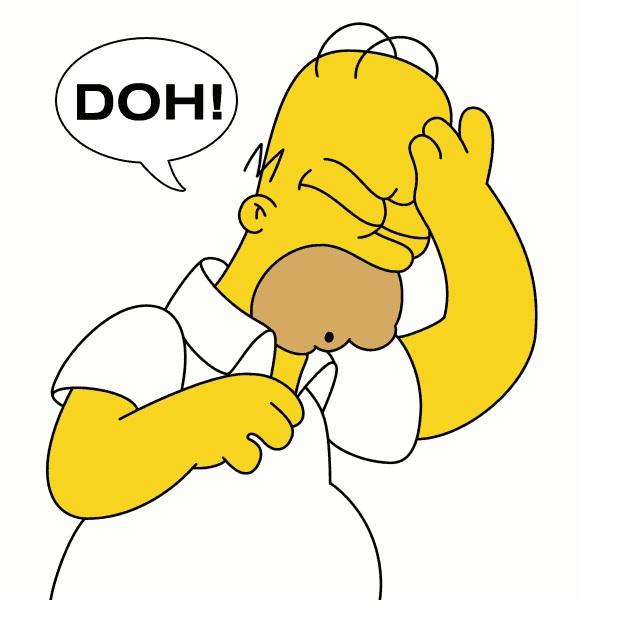 Homer ha perdido su teléfono móvil